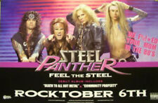 STEEL PANTHER 2009 double sided tour promotional poster Flawless New old stock