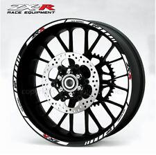 ZX-R wheel decals stickers rim stripes zx6r zx9r ninja zx10r zx14r Kawa white