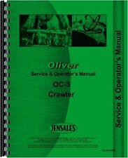 Oliver Oc 3 Cletrac Crawler Owners Operators Manual