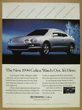 1994 Toyota Celica silver car color photo vintage print Ad