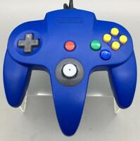 Official Nintendo 64 N64 Blue Controller Gamepad NUS-005 Authentic - A02