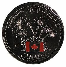 2000 Canada 25 cent Quarter - Celebration Colourized PL - Royal Canadian Mint