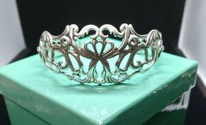 Carolyn Pollack Large Sterling Silver Filigree Cuff Bracelet New w box