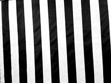 """Black and White striped 57""""- 60"""" inch 100% Polyester By The Yard"""