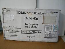 Ideal Pet Large Chubby Dog Cat Door 7.5 x 10.5 Frame Sash Window 27-32 Inch Read