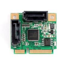 Hot Mini PCI-Express to 2 Ports SATA 3.0 III 6Gb/s Expansion Card Single Chip DQ