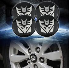 4xTransformers Decepticons 56mm Car Steering Wheel Center Hub Cap Emblem Sticker