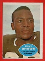 1960 Topps #23 JIm Brown EX Cleveland Browns Hall of Famer FREE SHIPPING