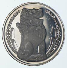 SILVER - WORLD Coin - 1976 Singapore 1 Dollar - World Silver Coin *470