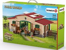 NEW Schleich Club Horse Stable Fence Arena Food Rider Pony 42195 Farm World etc