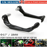 Carbon Fiber CNC Aluminum Motorcycle Brake Clutch Lever Protector Hand Guard UK