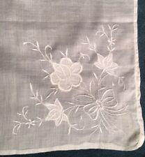 "Vintage Bridal Madeira Linen Wedding Hankie - 16"" x 15"""