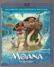 Disney Moana 3D Blu-ray + Cover Art + Case Only