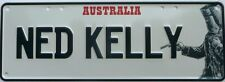 NED KELLY,  Number Plate Sign Nostalgic Automotive Novelty Metal Tin Sign