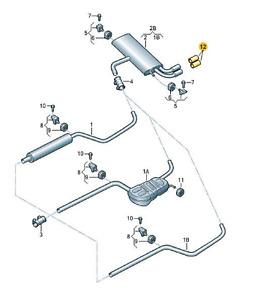 Original Auspuffblende (5G0253825E) für verschiedene VW Modelle