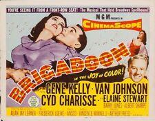 BRIGADOON - TITLE LOBBY CARD (1954) - GENE KELLY, VAN JOHNSON, CYD CHARISSE -