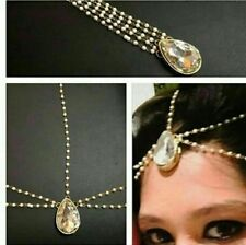 NUOVI HEAD Matha Patti Hijab gioielli catena oro indiano Copricapo Tikka per capelli