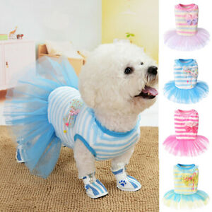 Pet Cat Puppy Small Dog Clothes Wedding Party Dress Skirt Clothing Dog Apparel
