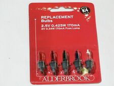 ALDERBROOK K4 MULTICOLOURED 2.5V 170mA Replacement Christmas Tree Lights AK0385M