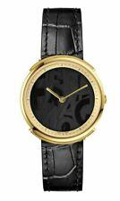 $1395 Ferragamo Women's Logomania Black Leather Swiss Quartz Watch FFY020017