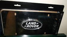 Genuine Land Rover Black Oval Logo Polished Chrome Front License Plate LR007528