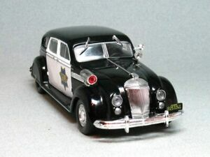 Chrysler Airflow CRS San Francisco Police 1936 Year 1/43 Scale Diecast Model Car