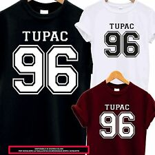 T-SHIRT TUPAC 96 GOD MUSIC RAP HIP POP MUSIC COOL MAGLIA IDEA REGALO