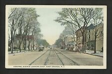 New Jersey NJ postcard East Orange, Central Ave looking East