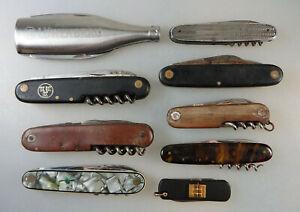 Konvolut mit 9 überwiegend alter Taschenmesser (76694)
