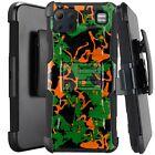 Holster Case For LG K92 5G (2020) Kickstand Phone Cover - GREEN ORANGE CAMO