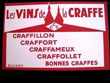 Ancien Buvard Vins de la Craffe vente en Lorraine
