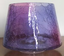 YANKEE CANDLE LARGE JAR SHADE AMETHYST CRACKLE GLASS LID