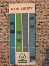 Vintage 1962 New Jersey Road Map Rare