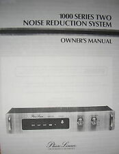 PHASE LINEAR PL 1000 Series II NRS OWNER MANUAL 16 Pages