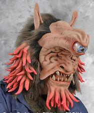 Giant One Eyed Mutant Beast Latex  Adult Halloween Mask with Moving Mouth