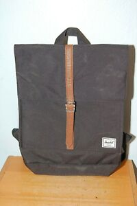Herschel Backpack Black w/ 1 Brown Strap