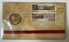 More details for 2010 australia $1 dollar coin & stamp cover lachlan - macquarie  au post scarce