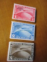EBS Germany 1933 Zeppelin Chicago World's Fair set Michel 496-498 REPRINTS