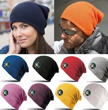 Mens Ladies Knitted Woolly Softex Oversized Slouch Beanie Hat Cap RC31X