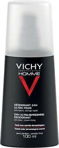 Vichy Homme Ultra-refreshing Deodorant Spray 100 Ml Aerosol Free