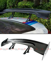 "Universal 57"" Real Carbon Fiber Adjustable GT-Style GT Rear Trunk Spoiler Wing"