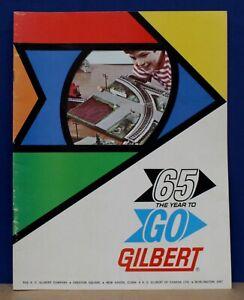 American Flyer 1965 Year to Go Gilbert Erector Slot Car Train Dealer Catalog