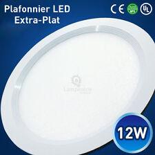 Plafonnier Ampoule LED Extra-Plat Spot Encastrable 12W Blanc Neutre/Blanc Froid