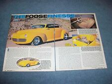 "1941 Ford Convertible Sam Foose Custom Street Rod Article ""The Foosenesse"""