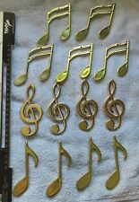 13 x Gold Musical notes Hanging Christmas Tree Decorations Xmas