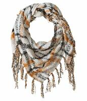 Collection XIIX Women's Wrap White Multi One Size Foil Boucle Triangle 741
