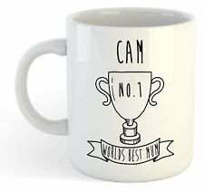 Cam - World Best Mum Trophy Mug - For Mothers Day Gift, Personalised, Name