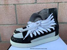 Kris Van Assche Multi Lace Sneakers Size 42 Men's Black Authentic