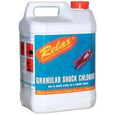RELAX GRANULAR SHOCK CHLORINE GRANULES SWIMMING POOL CHEMICAL 5KG SANITISER