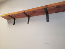 """24 Pack - 6X9"""" Shelf Brackets Angle Metal UNFINISHED  Modern Industrial Iron"""
